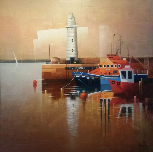 DONAGHADEE LIGHTHOUSE.  SOLD.